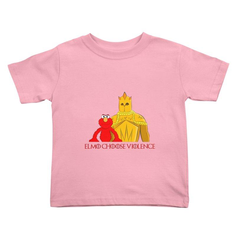 Elmo Choose Violence v2 Kids Toddler T-Shirt by oneweirddude's Artist Shop