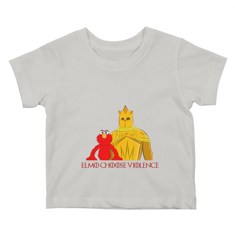 Elmo Choose Violence v2 Kids Baby T-Shirt by oneweirddude's Artist Shop