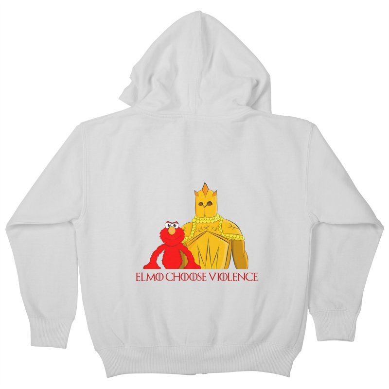Elmo Choose Violence v2 Kids Zip-Up Hoody by oneweirddude's Artist Shop