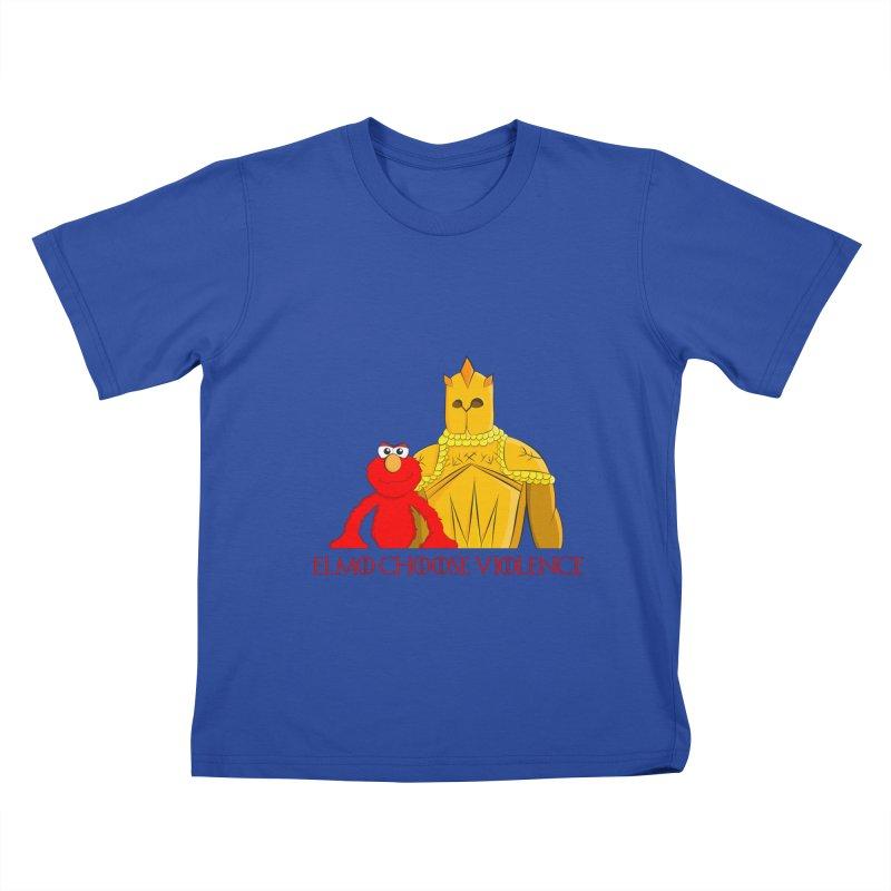 Elmo Choose Violence v2 Kids T-Shirt by oneweirddude's Artist Shop
