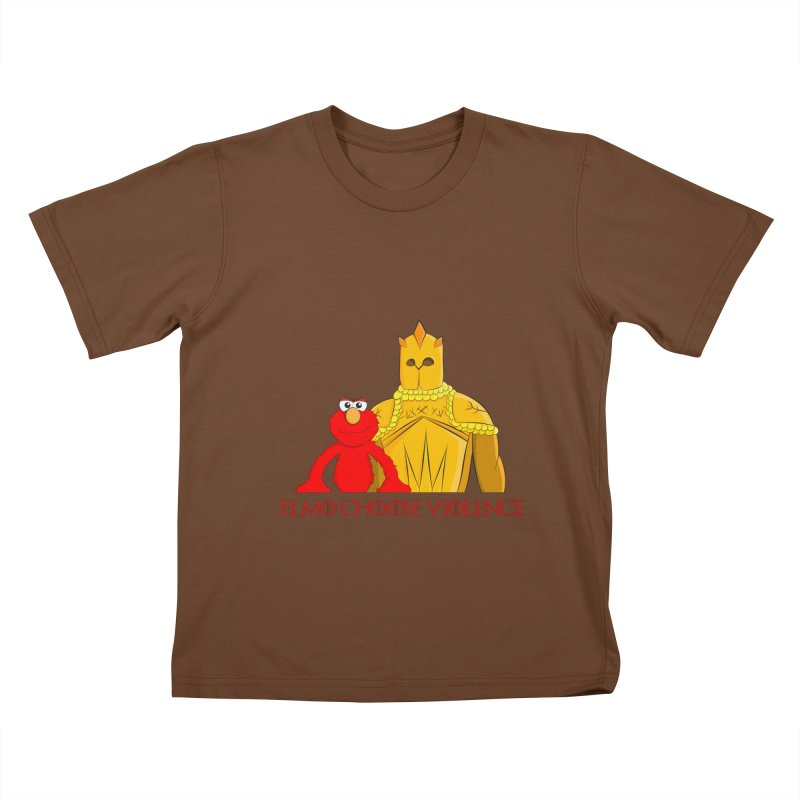 Elmo Choose Violence v2 Kids T-Shirt by oneweirddude's Artist Shop