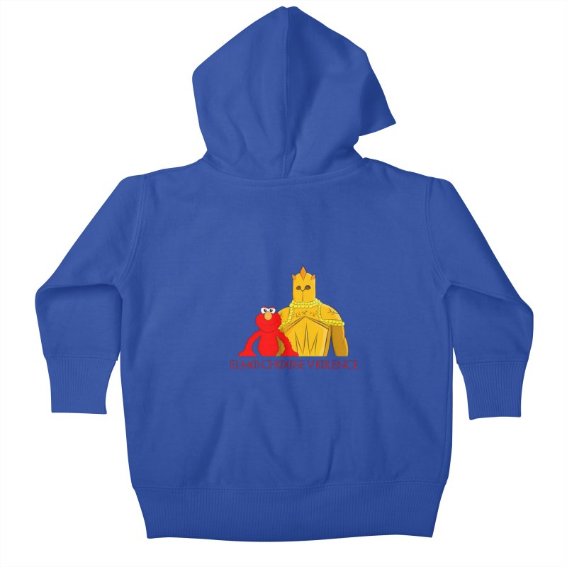 Elmo Choose Violence v2 Kids Baby Zip-Up Hoody by oneweirddude's Artist Shop