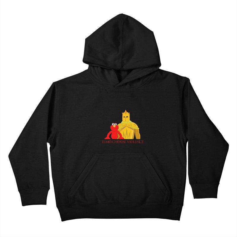 Elmo Choose Violence v2 Kids Pullover Hoody by oneweirddude's Artist Shop