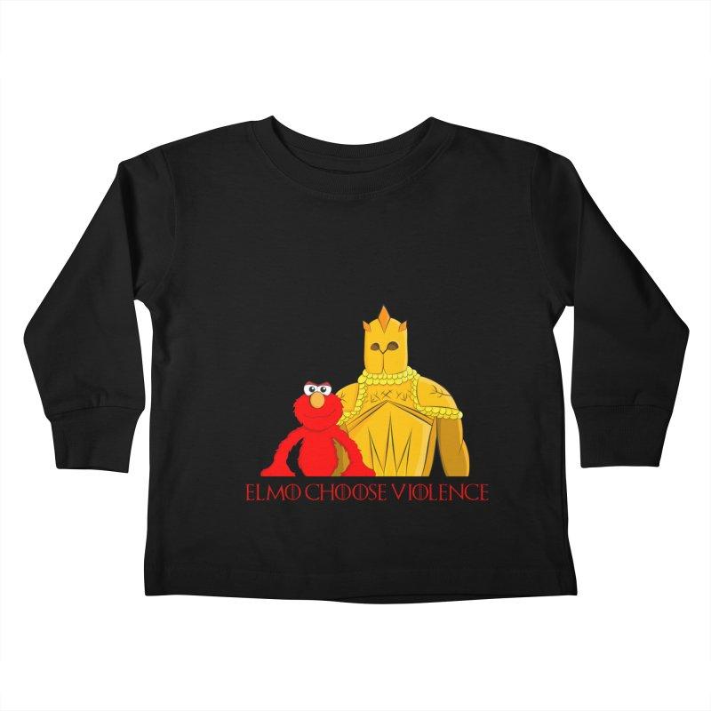 Elmo Choose Violence v2 Kids Toddler Longsleeve T-Shirt by oneweirddude's Artist Shop