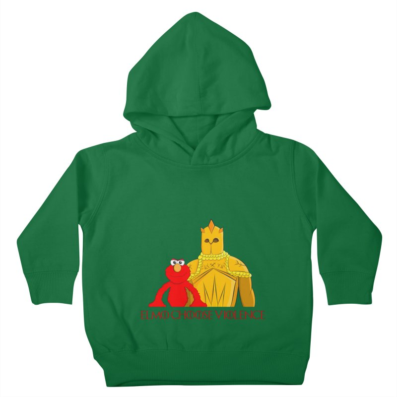 Elmo Choose Violence v2 Kids Toddler Pullover Hoody by oneweirddude's Artist Shop