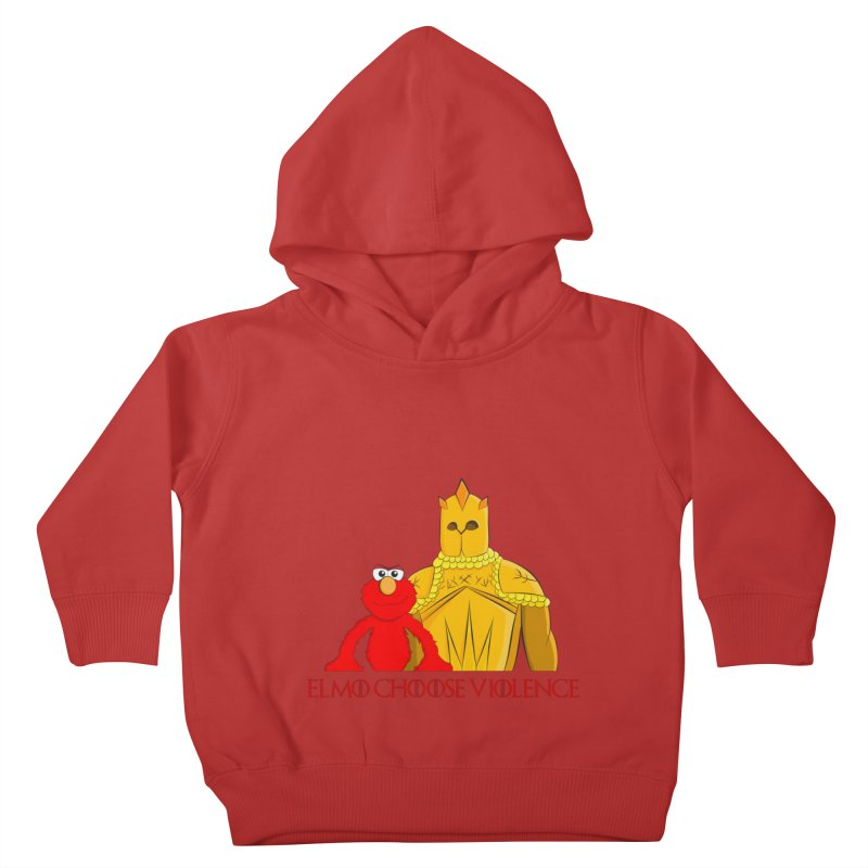 Elmo Choose Violence v2 Kids Toddler Pullover Hoody by oneweirddude's Artist Shop
