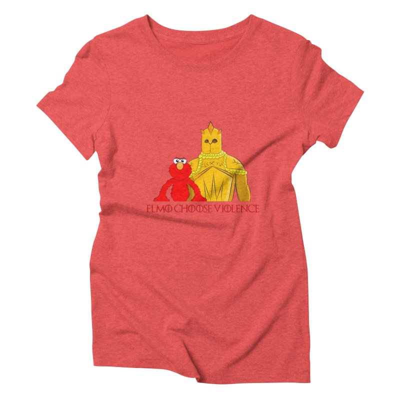 Elmo Choose Violence v2 Women's Triblend T-shirt by oneweirddude's Artist Shop