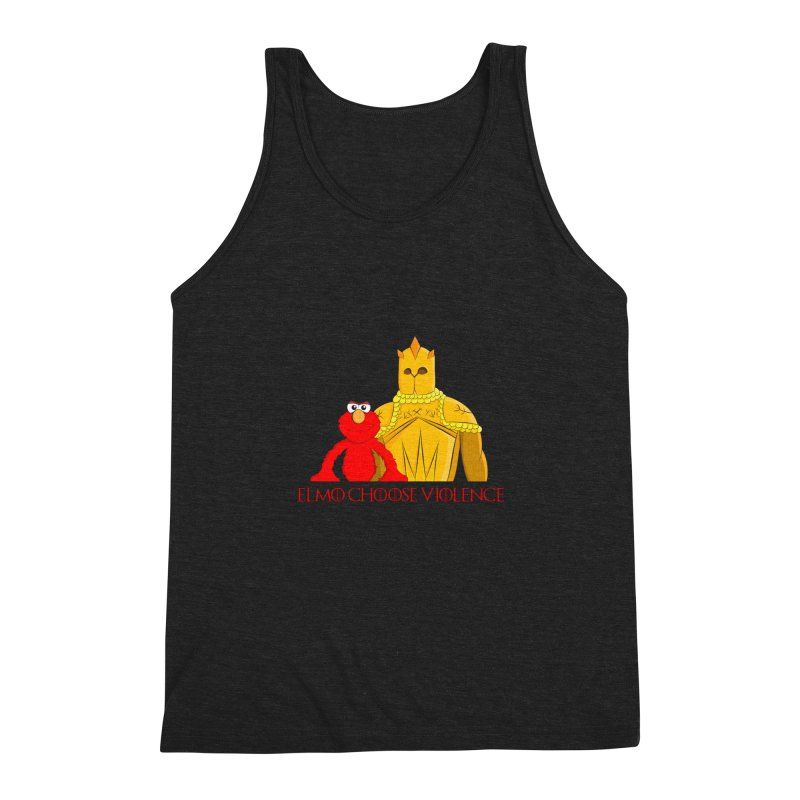 Elmo Choose Violence v2 Men's Triblend Tank by oneweirddude's Artist Shop