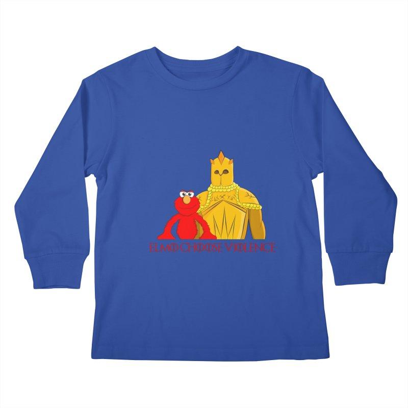 Elmo Choose Violence v2 Kids Longsleeve T-Shirt by oneweirddude's Artist Shop