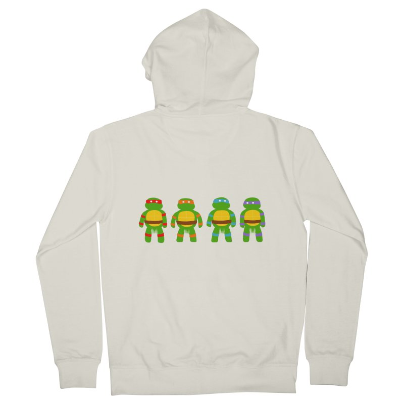 Pixellated Ninja Parts Men's Zip-Up Hoody by oneweirddude's Artist Shop