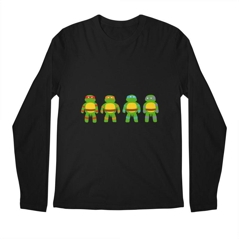Pixellated Ninja Parts Men's Longsleeve T-Shirt by oneweirddude's Artist Shop