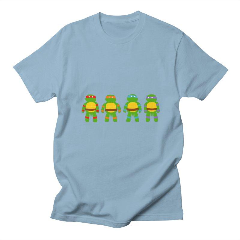 Pixellated Ninja Parts Men's T-shirt by oneweirddude's Artist Shop