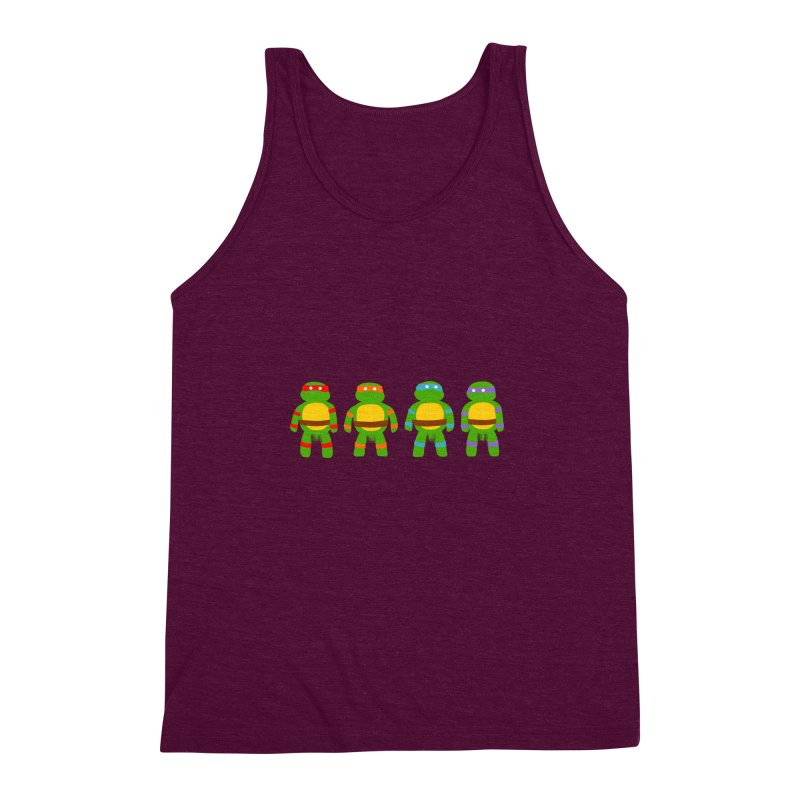 Pixellated Ninja Parts Men's Triblend Tank by oneweirddude's Artist Shop