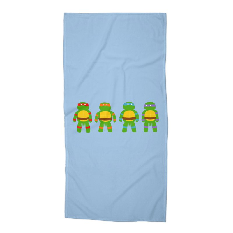 Pixellated Ninja Parts Accessories Beach Towel by oneweirddude's Artist Shop