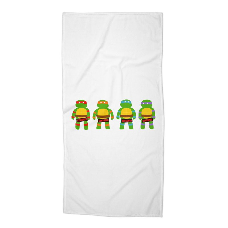 Naughty Ninjas Accessories Beach Towel by oneweirddude's Artist Shop