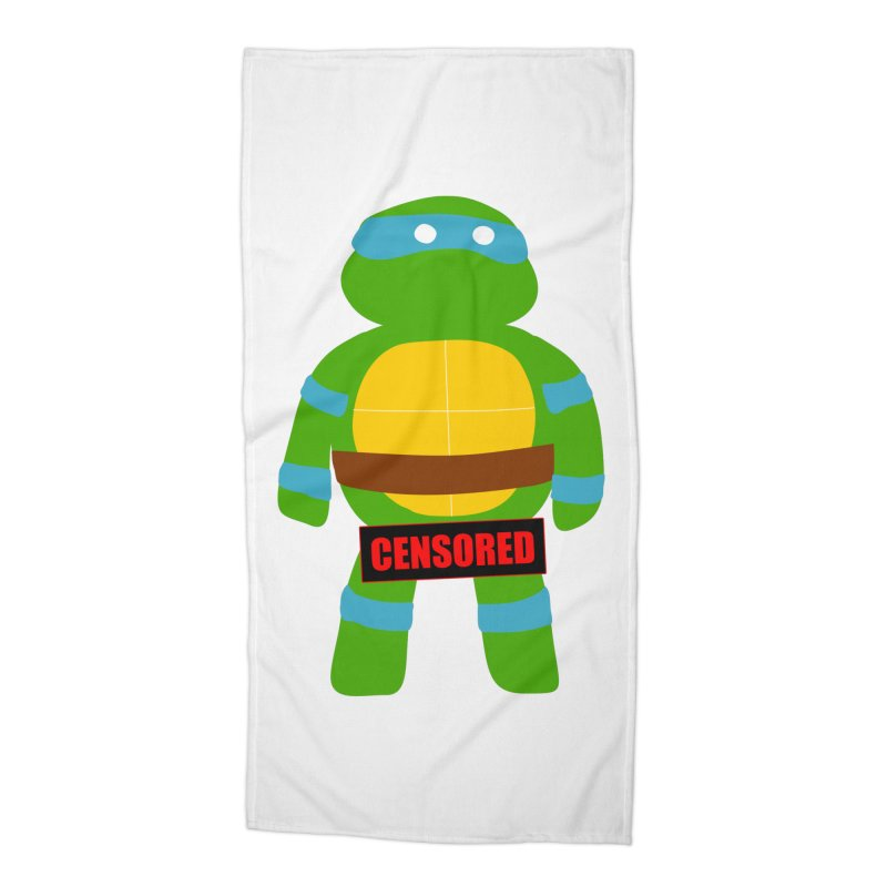 Naughty Leonardo Accessories Beach Towel by oneweirddude's Artist Shop
