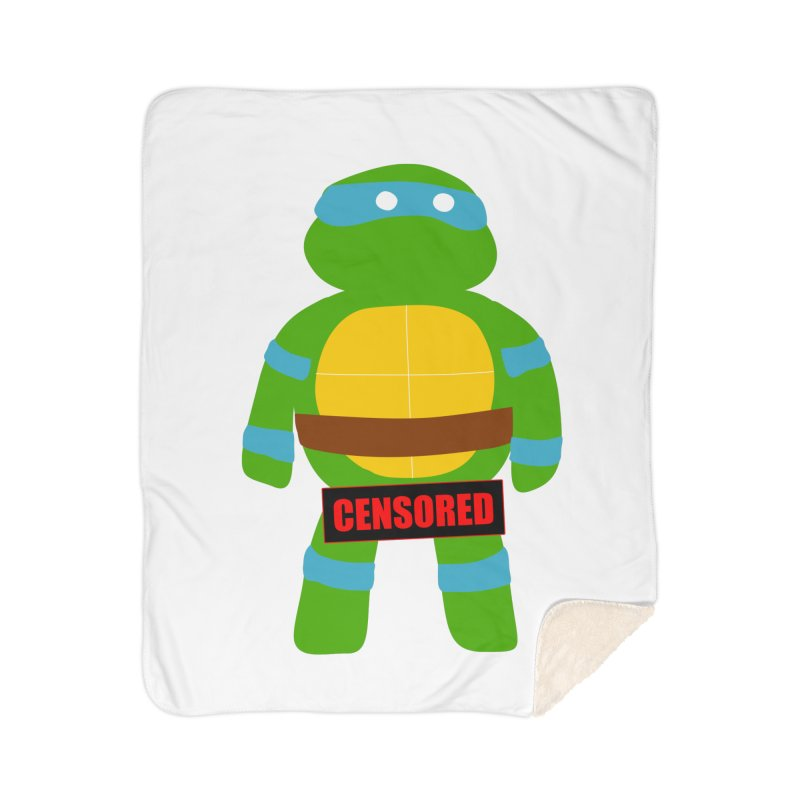 Naughty Leonardo Home Sherpa Blanket Blanket by oneweirddude's Artist Shop