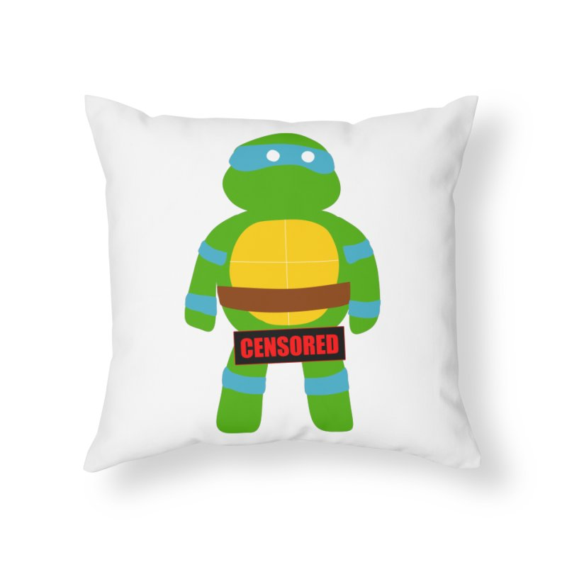 Naughty Leonardo Home Throw Pillow by oneweirddude's Artist Shop