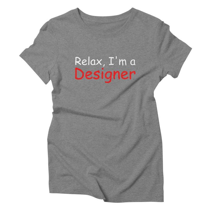Helvetica's Overrated Women's Triblend T-shirt by oneweirddude's Artist Shop