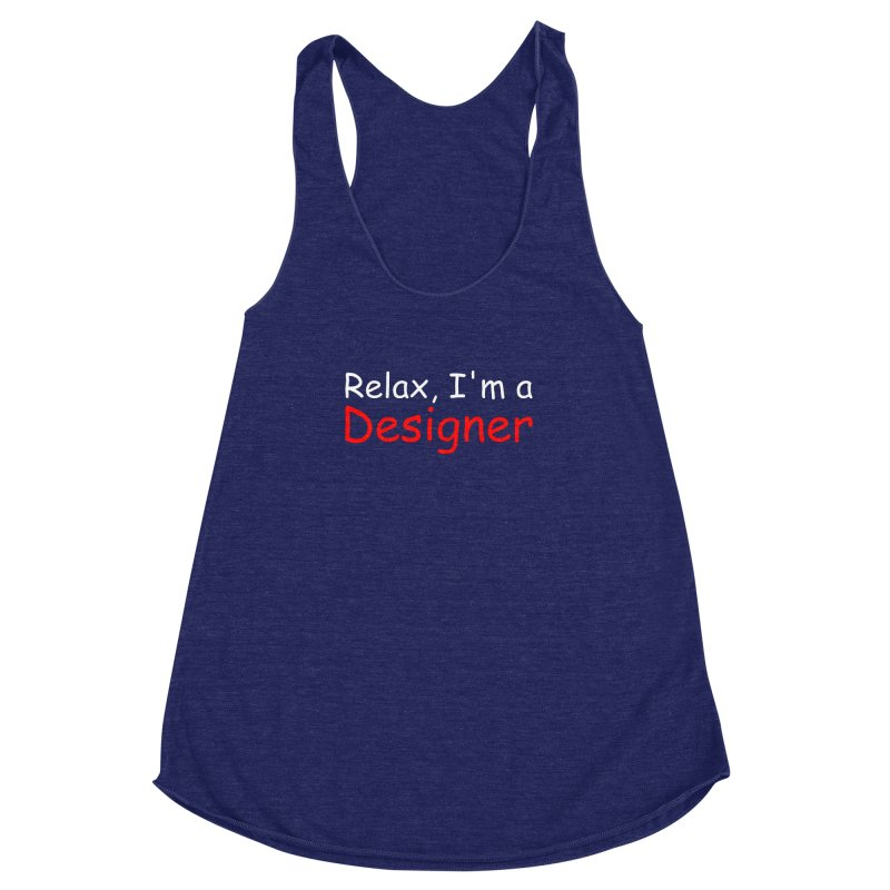 Helvetica's Overrated Women's Racerback Triblend Tank by oneweirddude's Artist Shop