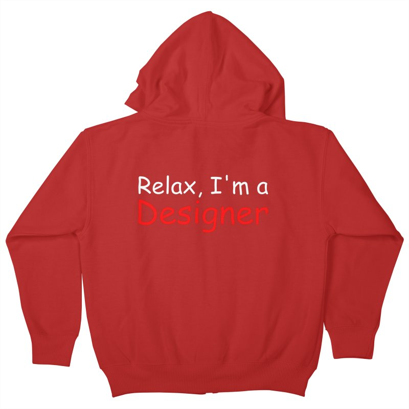 Helvetica's Overrated Kids Zip-Up Hoody by oneweirddude's Artist Shop