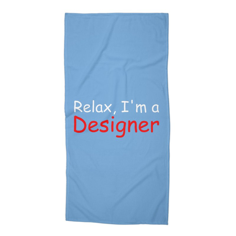Helvetica's Overrated Accessories Beach Towel by oneweirddude's Artist Shop