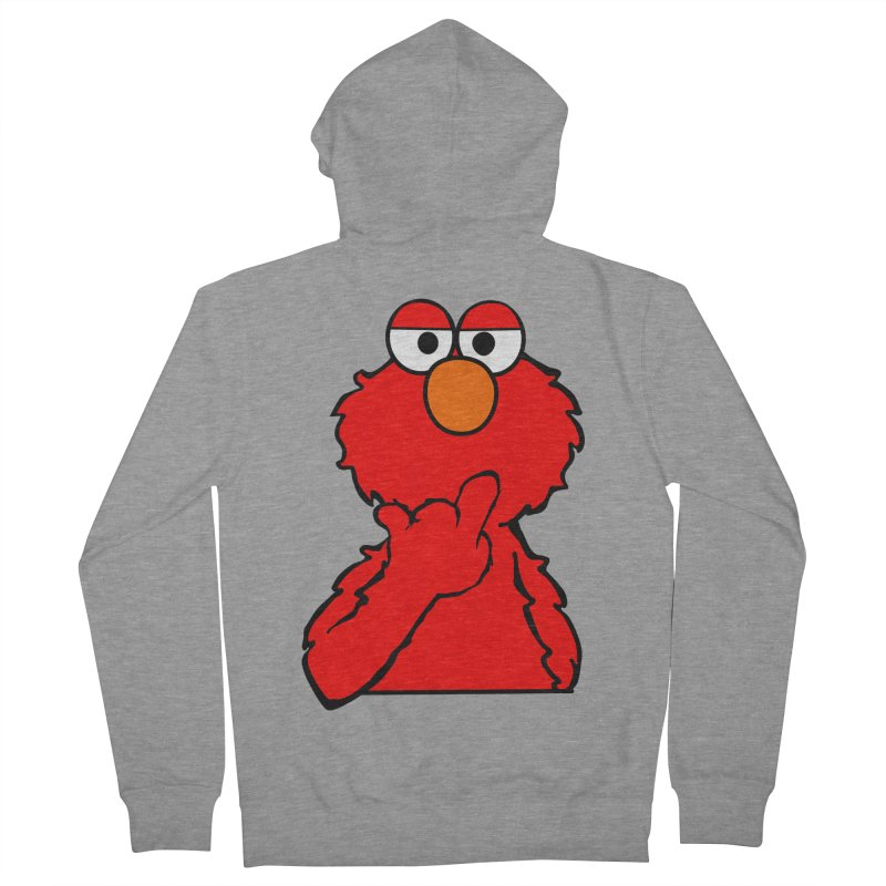 Elmo is Out of Fucks to Give Men's French Terry Zip-Up Hoody by oneweirddude's Artist Shop