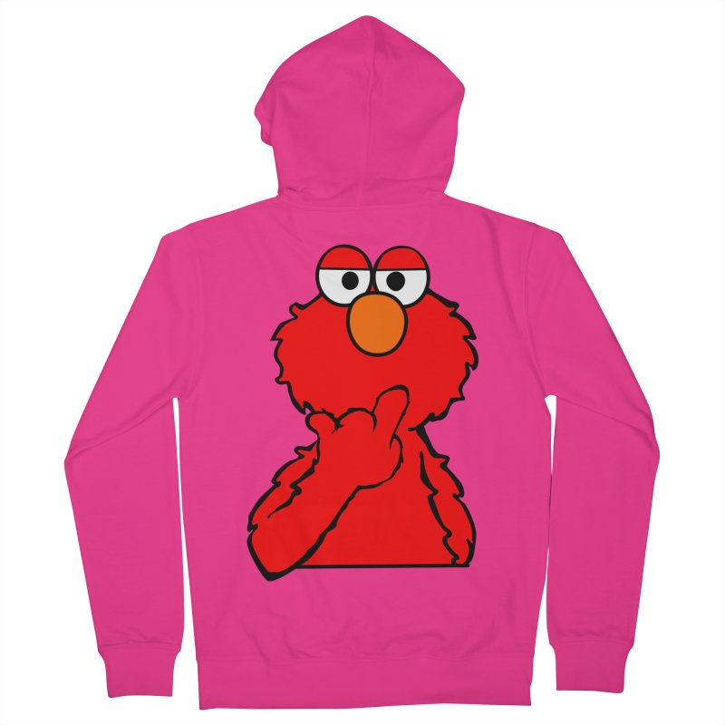Elmo is Out of Fucks to Give Men's Zip-Up Hoody by oneweirddude's Artist Shop