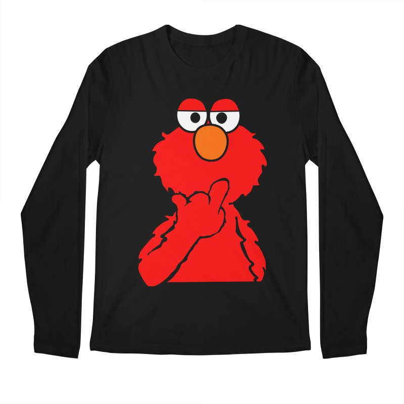 Elmo is Out of Fucks to Give Men's Regular Longsleeve T-Shirt by oneweirddude's Artist Shop