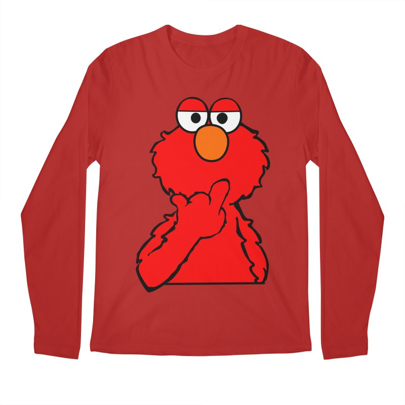 Elmo is Out of Fucks to Give Men's Longsleeve T-Shirt by oneweirddude's Artist Shop