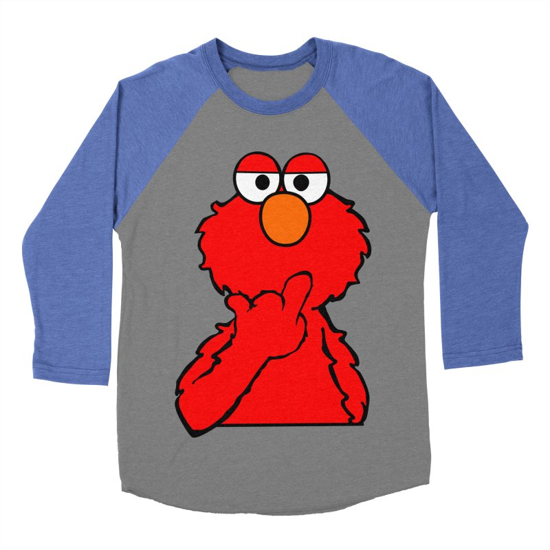Elmo is Out of Fucks to Give Men's Baseball Triblend T-Shirt by oneweirddude's Artist Shop