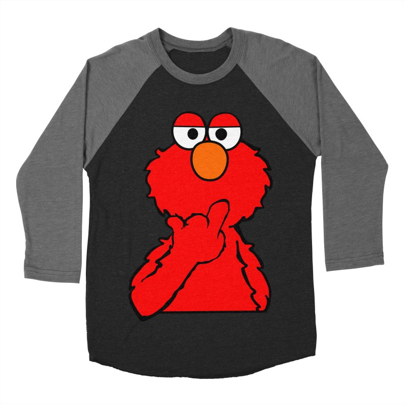 Elmo is Out of Fucks to Give Men's Baseball Triblend Longsleeve T-Shirt by oneweirddude's Artist Shop