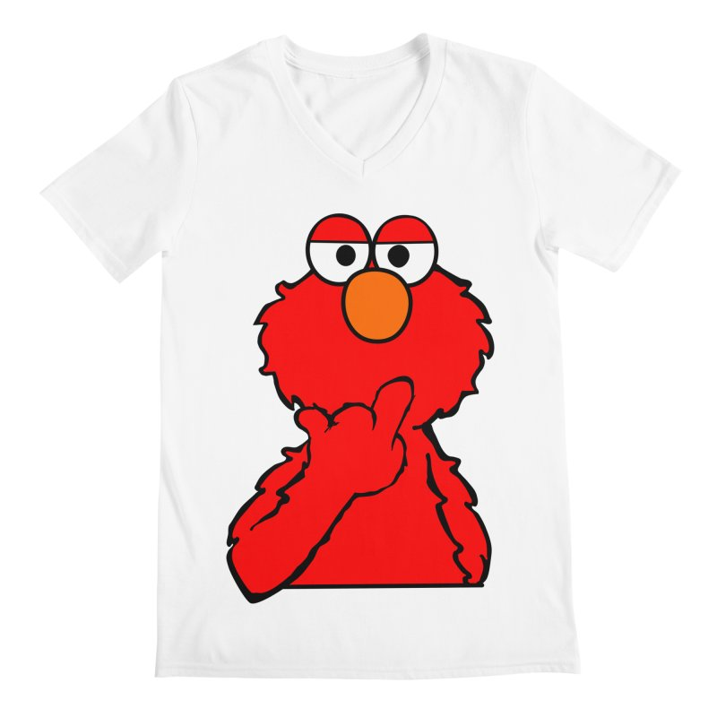 Elmo is Out of Fucks to Give Men's V-Neck by oneweirddude's Artist Shop