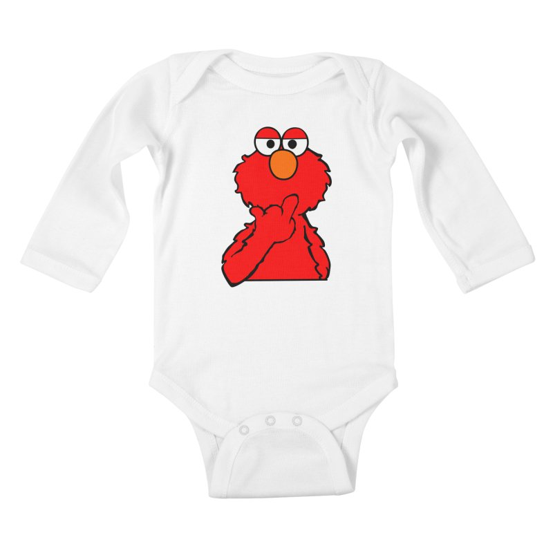 Elmo is Out of Fucks to Give Kids Baby Longsleeve Bodysuit by oneweirddude's Artist Shop