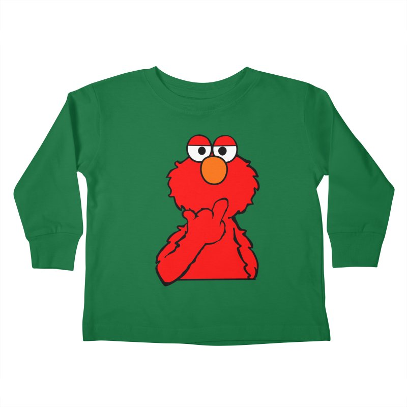 Elmo is Out of Fucks to Give Kids Toddler Longsleeve T-Shirt by oneweirddude's Artist Shop