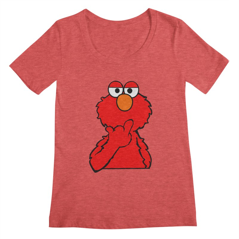 Elmo is Out of Fucks to Give Women's Scoopneck by oneweirddude's Artist Shop