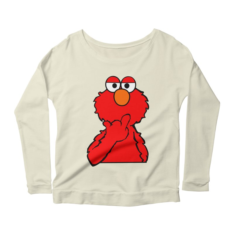 Elmo is Out of Fucks to Give Women's Longsleeve Scoopneck  by oneweirddude's Artist Shop