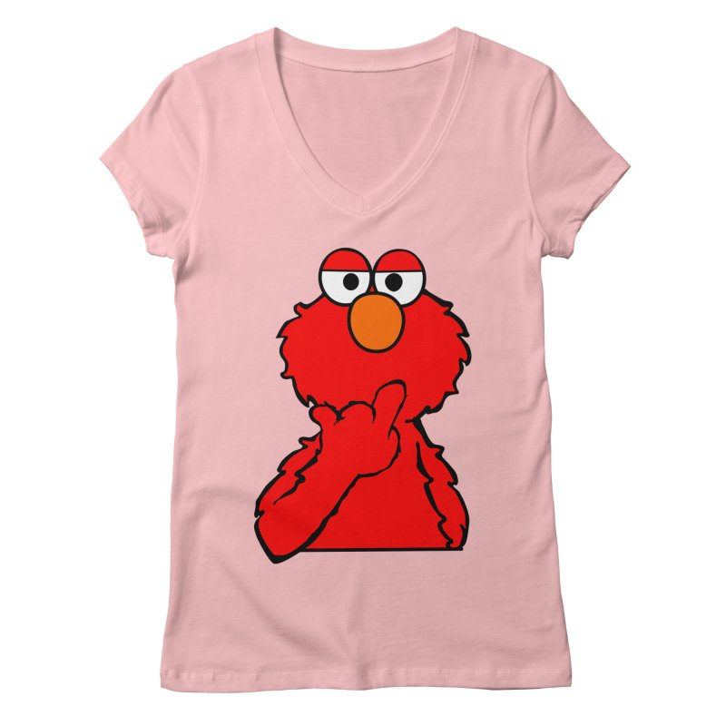 Elmo is Out of Fucks to Give Women's V-Neck by oneweirddude's Artist Shop