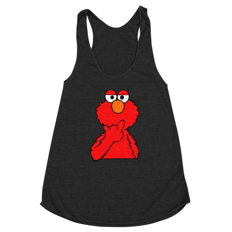 Elmo is Out of Fucks to Give Women's Racerback Triblend Tank by oneweirddude's Artist Shop