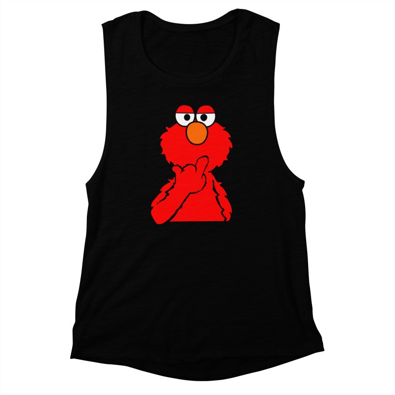 Elmo is Out of Fucks to Give Women's Muscle Tank by oneweirddude's Artist Shop