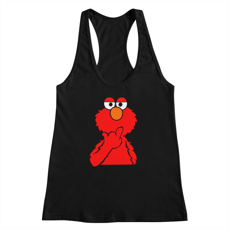 Elmo is Out of Fucks to Give Women's Racerback Tank by oneweirddude's Artist Shop