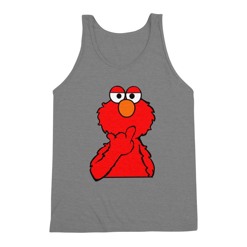 Elmo is Out of Fucks to Give Men's Triblend Tank by oneweirddude's Artist Shop