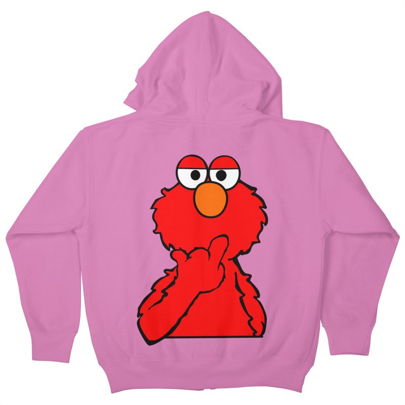 Elmo is Out of Fucks to Give Kids Zip-Up Hoody by oneweirddude's Artist Shop