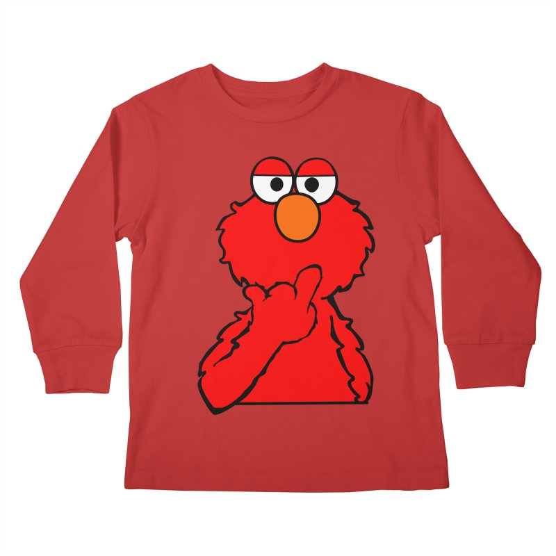 Elmo is Out of Fucks to Give Kids Longsleeve T-Shirt by oneweirddude's Artist Shop