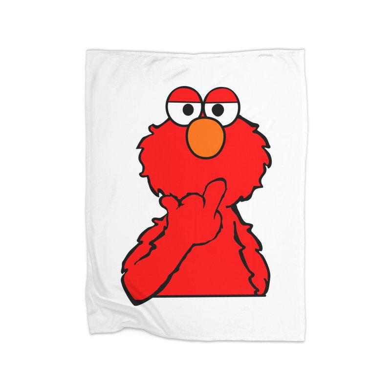 Elmo is Out of Fucks to Give Home Fleece Blanket Blanket by oneweirddude's Artist Shop