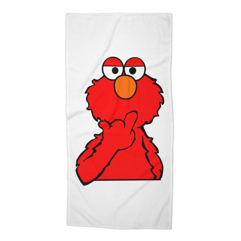 Elmo is Out of Fucks to Give Accessories Beach Towel by oneweirddude's Artist Shop
