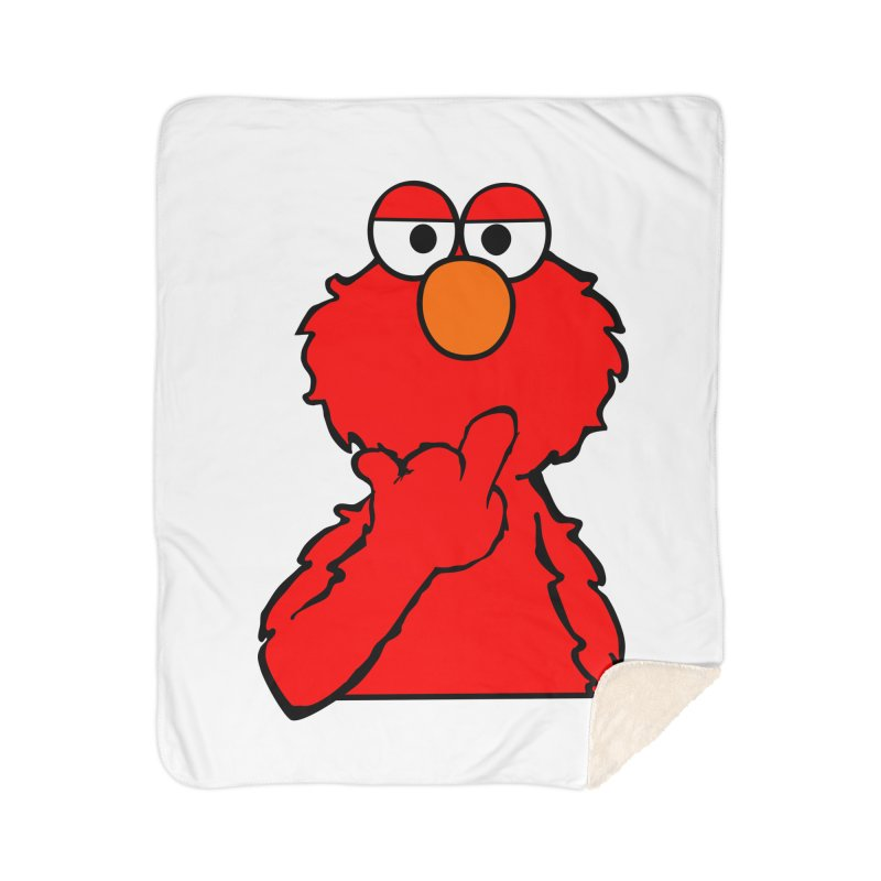 Elmo is Out of Fucks to Give Home Sherpa Blanket Blanket by oneweirddude's Artist Shop
