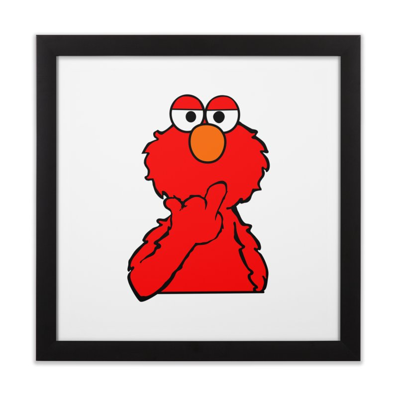 Elmo is Out of Fucks to Give Home Framed Fine Art Print by oneweirddude's Artist Shop