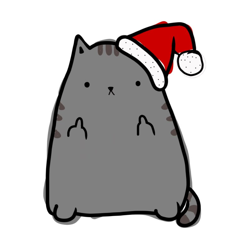 Christmas Kitty None  by oneweirddude's Artist Shop