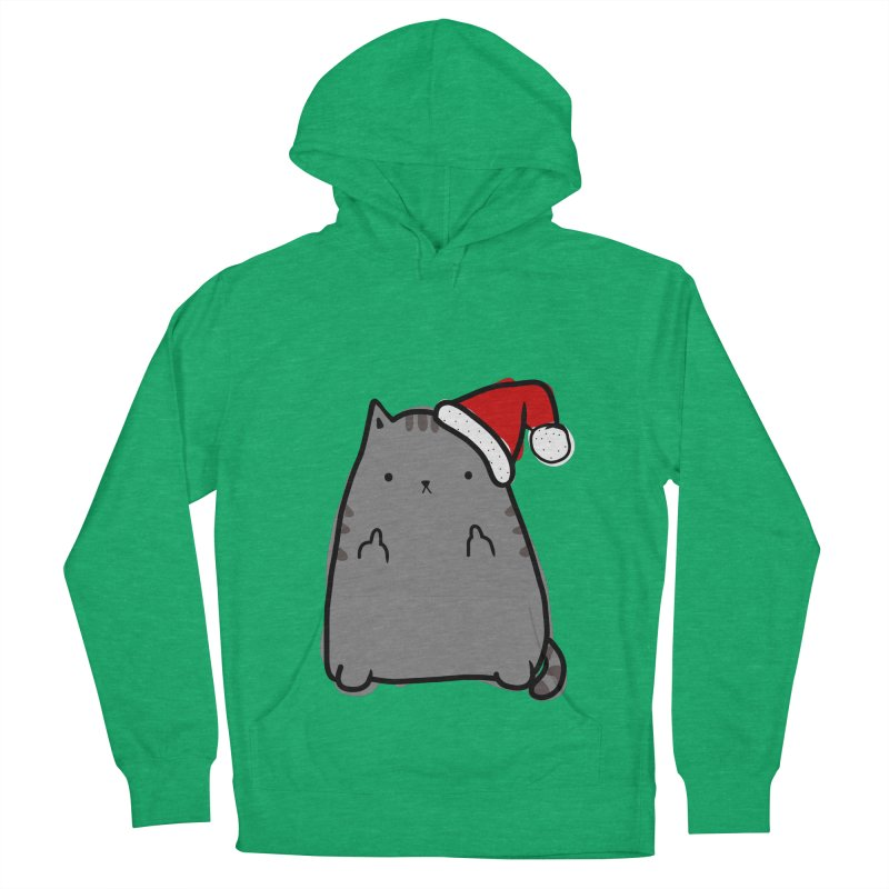 Christmas Kitty Women's Pullover Hoody by oneweirddude's Artist Shop